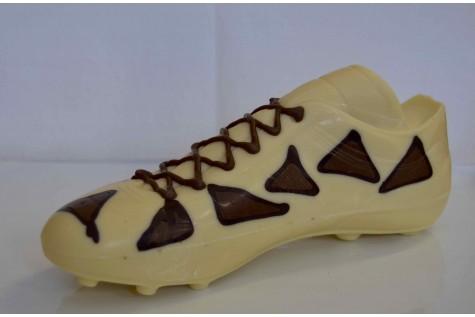 Scarpetta uomo calcio cioccolato bianco