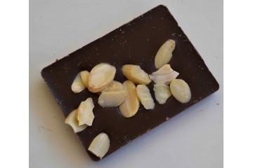 Barretta cioccolato fondente con mandorle