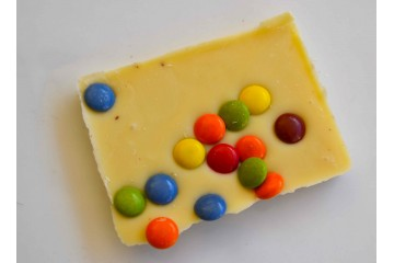 Barretta cioccolato bianco smarties